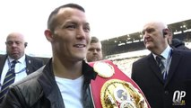 Josh Warrington squares up to Kid Galahad at Elland Road