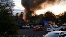 Fire crews tackle garage blaze in West Boldon