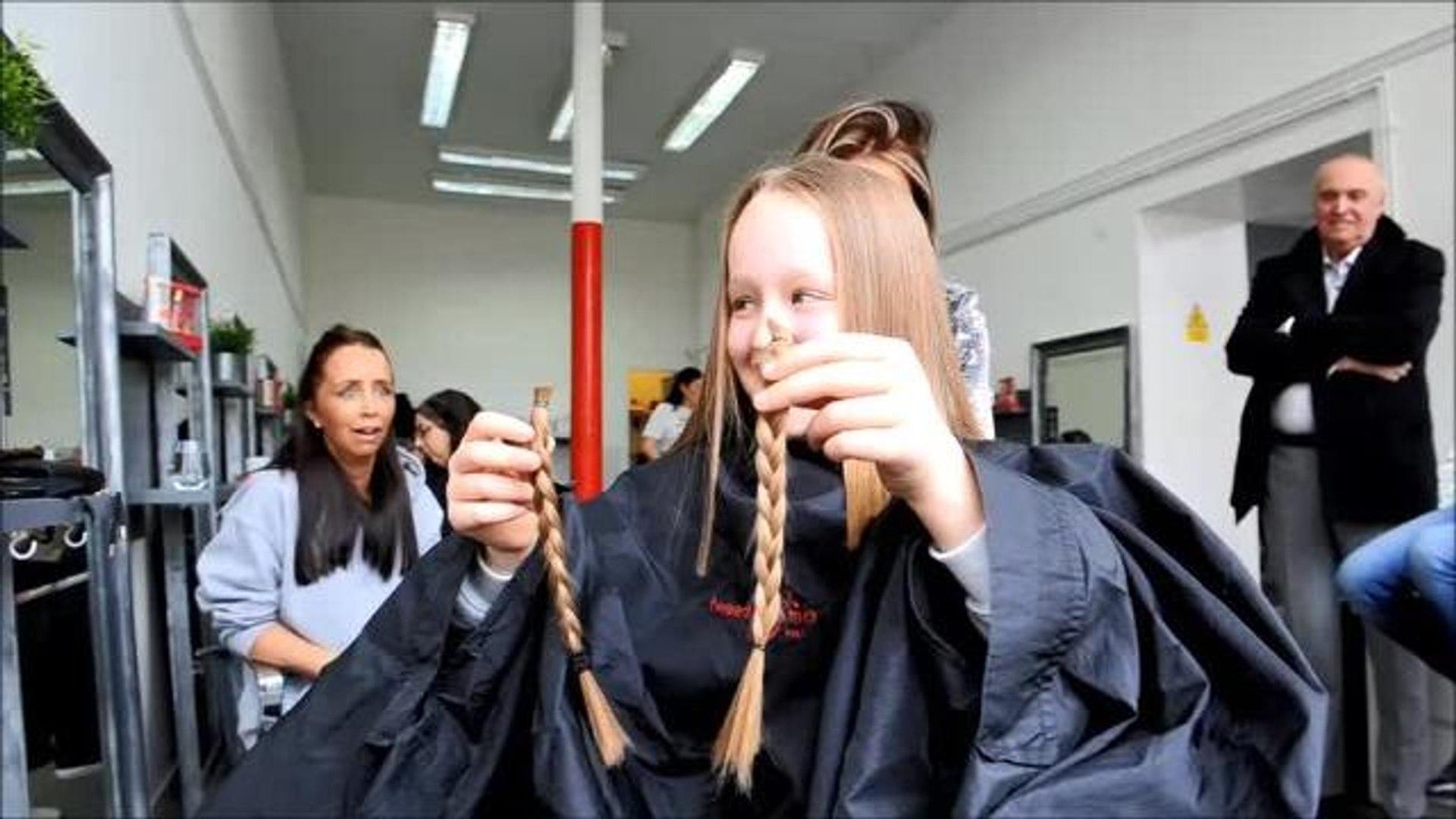 Layla Ruthiewicz 9 charity hair cut