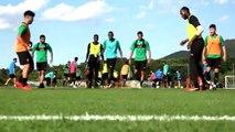 Xavi takes part in his first training camp as head coach of Al Sadd