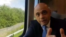 Sajid Javid speaks to the Yorkshire Post