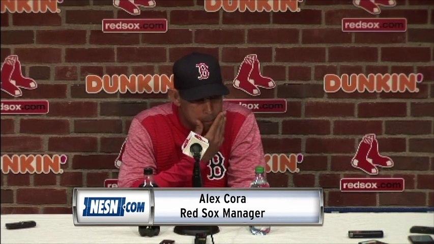 Alex Cora Monday night Red Sox vs. Blue Jays postgame sound
