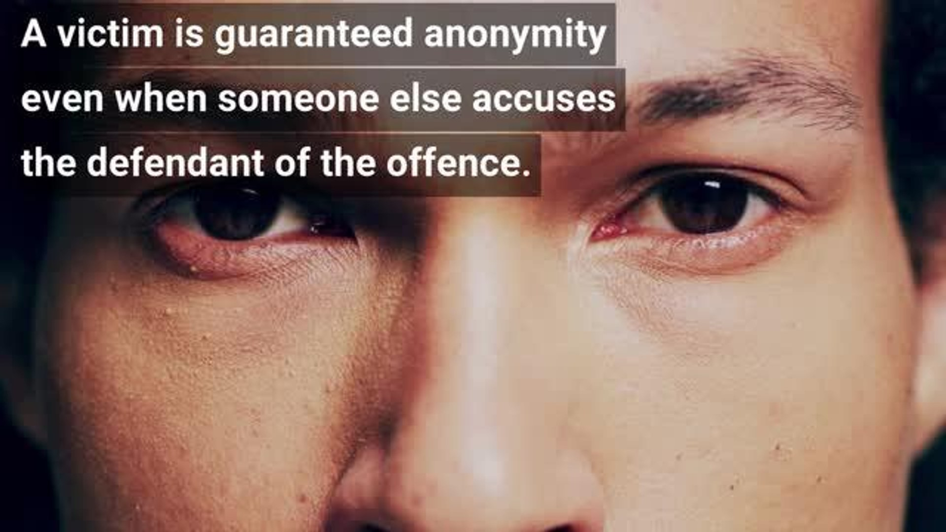 Video explainer of why victims of sexual assault are granted anonymity