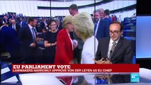 Ursula von der Leyen voted new EU chief, analysis by FRANCE 24's Armen Georgian