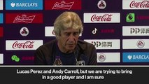 (Subtitled) Pellegrini on EPL Asia Trophy and buying a new striker for West Ham