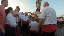 Procesión de la Virgen del Carmen por las playas del barrio malagueño de El Palo