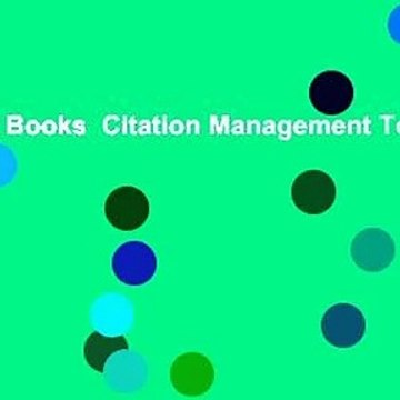 About For Books  Citation Management Tools  For Kindle