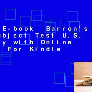 Full E-book  Barron's SAT Subject Test U.S. History with Online Tests  For Kindle