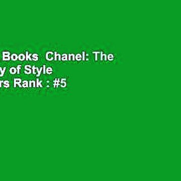 About For Books  Chanel: The Vocabulary of Style  Best Sellers Rank : #5