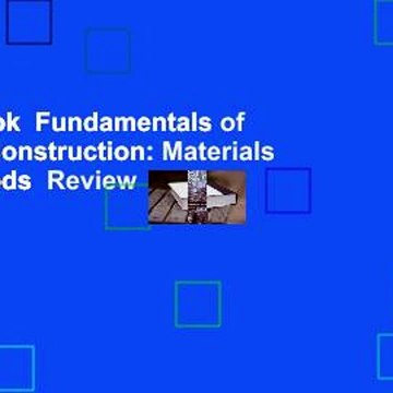 Full E-book  Fundamentals of Building Construction: Materials and Methods  Review