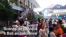 Bali: début de panique après un séisme