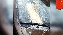 【重力の不思議?】豆腐落下でフロントガラスが破損 中国 - トモニュース
