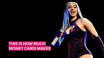 Cardi B is making some big bucks this summer