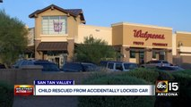 Child rescued from car in San Tan Valley