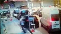 Arnavutköy'de şok eden hırsızlık...8 kişi gelip iş yerini böyle soydular