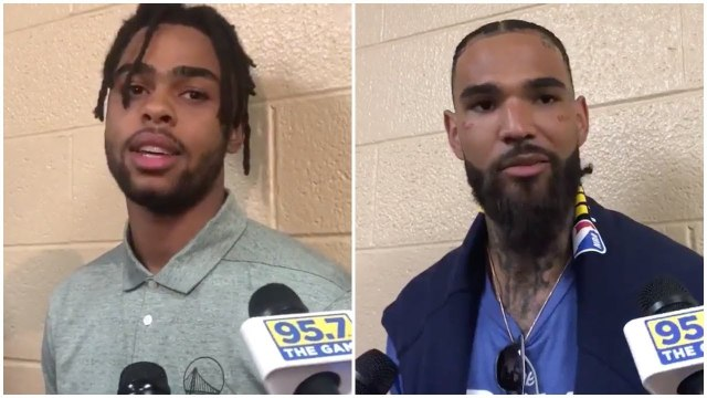 D'Angelo Russell & Willie Cauley-Stein on joining the Warriors & their future with the team