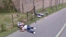 Quand la voiture de Google Street View capture deux motards qui chutent