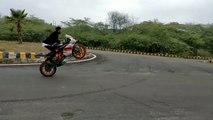Stunning Stunts on KTM DUKE 200 KTM RC200 & Pulser 220||||best bike stunts||