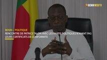 Bénin : rencontre patrice talon avec partis politiques n'ayant pas leurs certificats de conformité