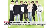 BTS listed as one Time's 25 most influential people on internet