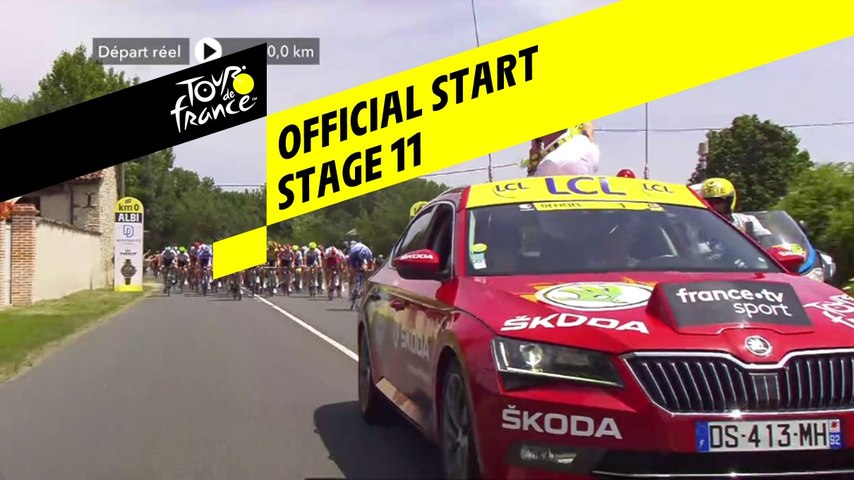 Départ réel / Official start - Étape 11 / Stage 11 - Tour de France 2019