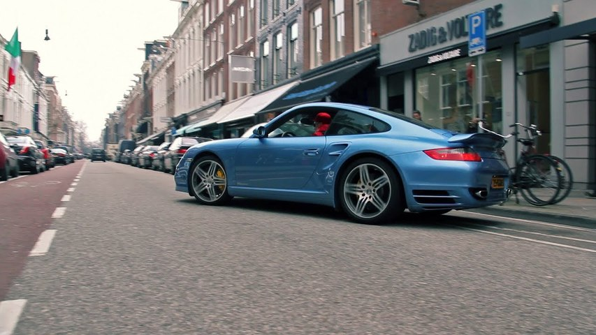 Porsche 997 Turbo Ice Blue Metallic- Start up and Accelerating Sound-
