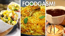 Woo Your Date With This Delicious Three Course Meal | Popcorn Bhel | Hyderabadi Biryani | Fondue