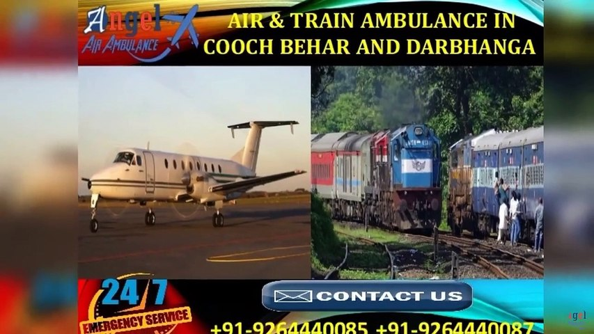 Select Most Superior Air & Train Ambulance in Cooch Behar by Angel