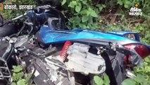 तेज रफ्तार कार ने बाइक सवार को मारी टक्कर