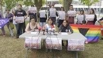 Rueda de prensa por incidentes en un mitin de Vox en Bilbao