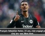 Transferts - West Ham casse sa tirelire pour Haller