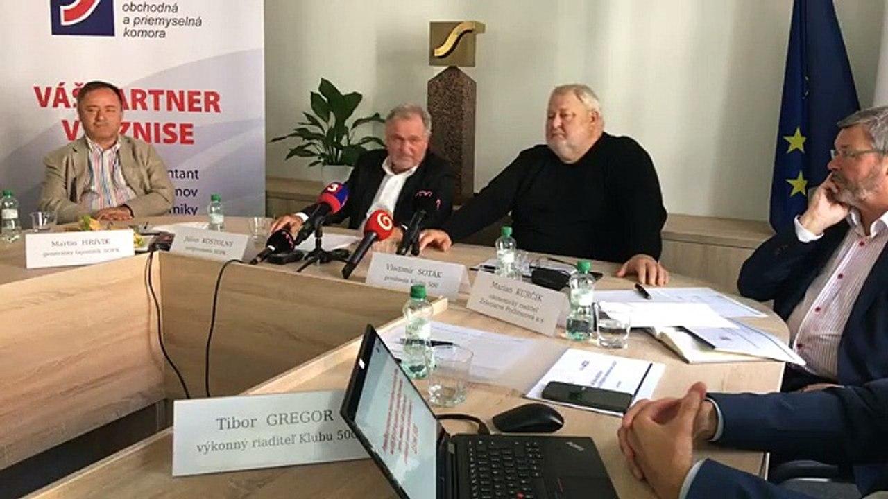 ZÁZNAM: TK Slovenskej obchodnej a priemyselnej komory a Klubu 500