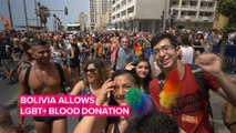 Gay people now can donate blood in Bolivia