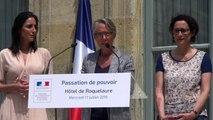 Discours de Elisabeth Borne lors de la passation de pouvoir avec François de Rugy