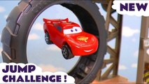 Disney Pixar Cars 3 Lightning McQueen and Hot Wheels Jump Challenge vs  DC Comics and Dinosaur Toys T-Rex in this Family Friendly Toy Story Full Episode English