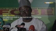 Bénin : les conditions des FCBE pour un dialogue inclusif et fructueux