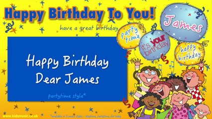 Jump Singers - Happy Birthday Dear James (For Partytime)