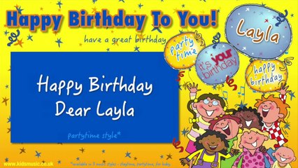Jump Singers - Happy Birthday Dear Layla (For Partytime)