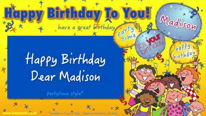 Jump Singers - Happy Birthday Dear Madison (For Partytime)