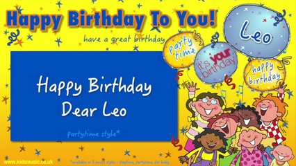 Jump Singers - Happy Birthday Dear Leo (For Partytime)