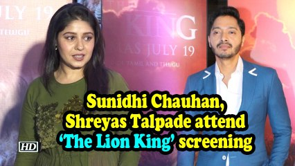 'The Lion King' screening: Sunidhi Chauhan, Shreyas Talpade and others attend