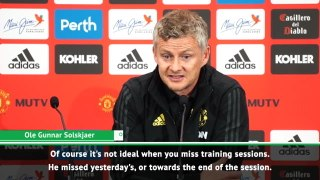 'Not ideal' that Lukaku is missing training sessions - Solskjaer