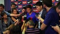 Japan international Hiroki Abe talks after signing for FC Barcelona's B side