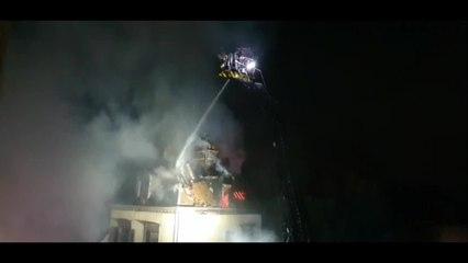 Important incendie rue Kléber à Troyes