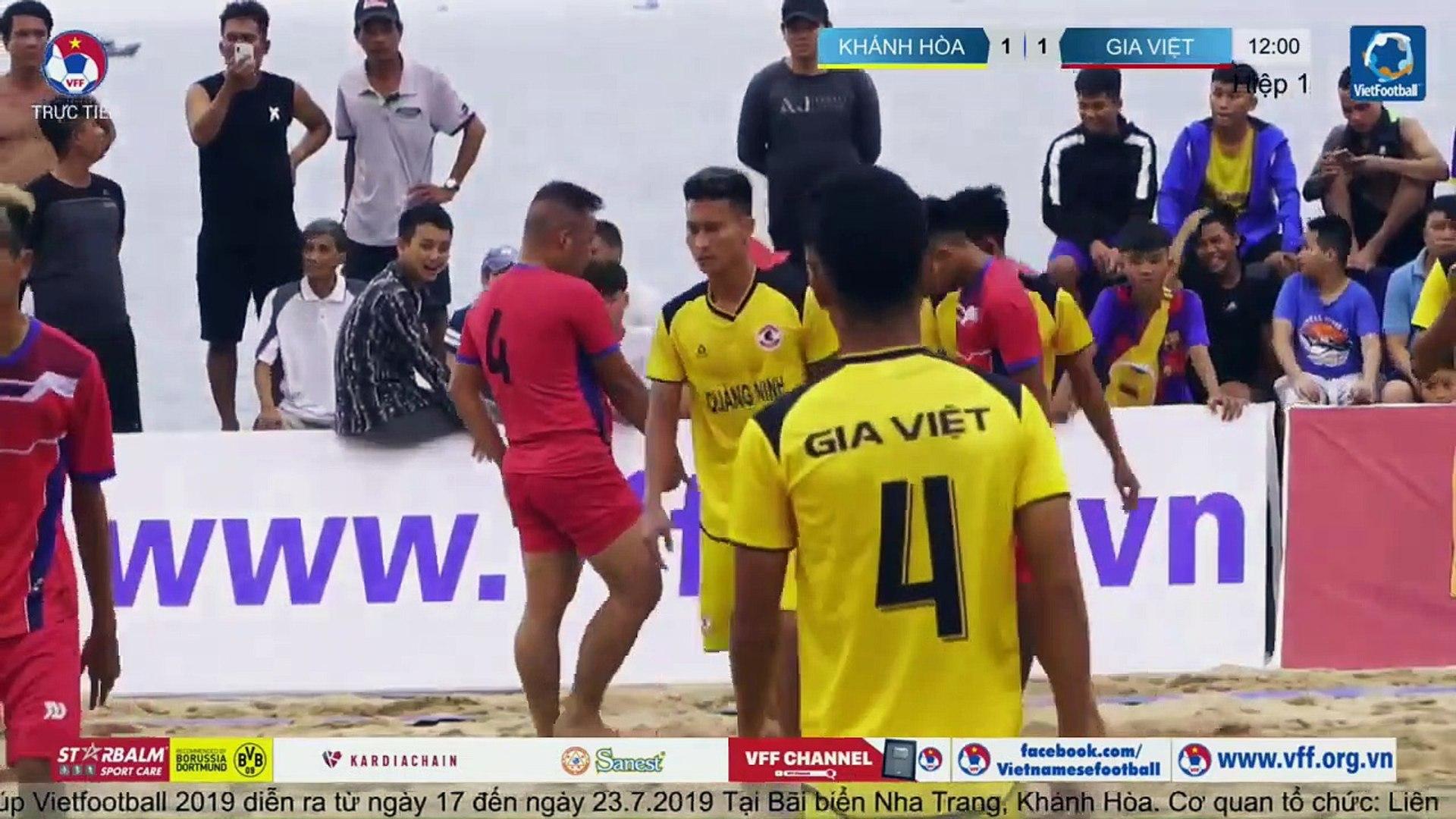 TRỰC TIẾP | KHÁNH HÒA - GIA VIỆT | Giải bóng đá Bãi biển Vô địch Quốc gia | VFF Channel