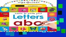 [MOST WISHED]  Letters A B C (Wipe Clean: Learn to Write)