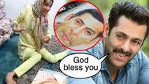 Salman Khan's DISABLED Girl Fan Draws His Portrait With Her LEGS   MUST WATCH