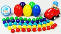 Learn Colors and Numbers 1 to 10, Pocoyo Car Surprise Eggs,Spiderman,Pixar Cars,Diseny Minnie Mouse