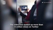 Regardez la vidéo de ce passager dans un avion qui a déjà été vue plus de 10 millions de fois sur les réseaux sociaux et dans le monde entier!