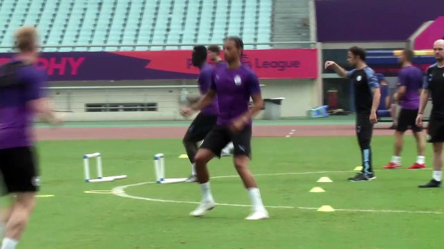 Manchester City train ahead of Premier League Asia Trophy final with Wolves